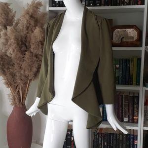 🔥3/30$  DOUBLJU open front olive cardigan jacket